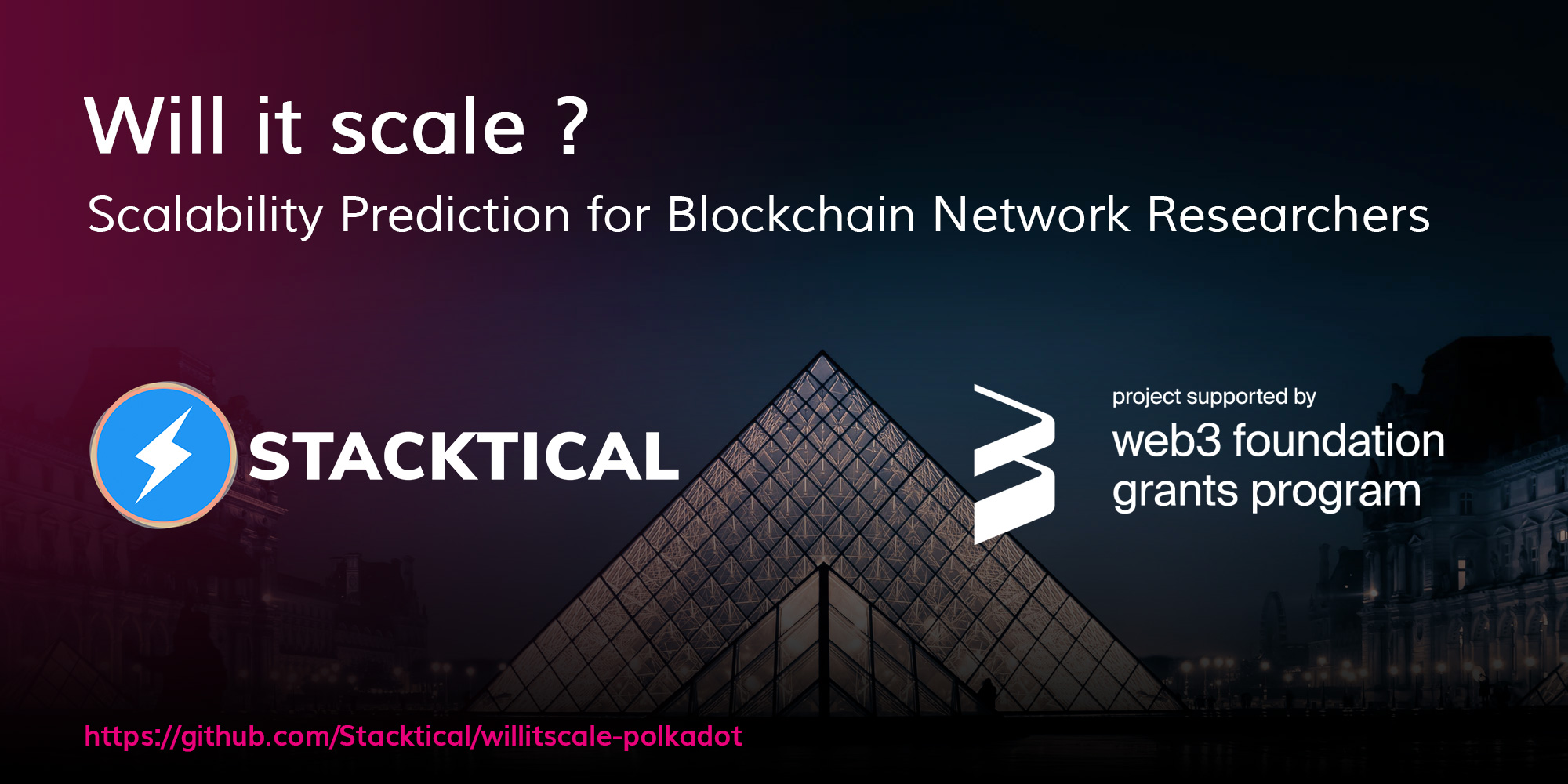 Stacktical receives web3 foundation grant to predict the scalability of Polkadot and Substrate blockchains