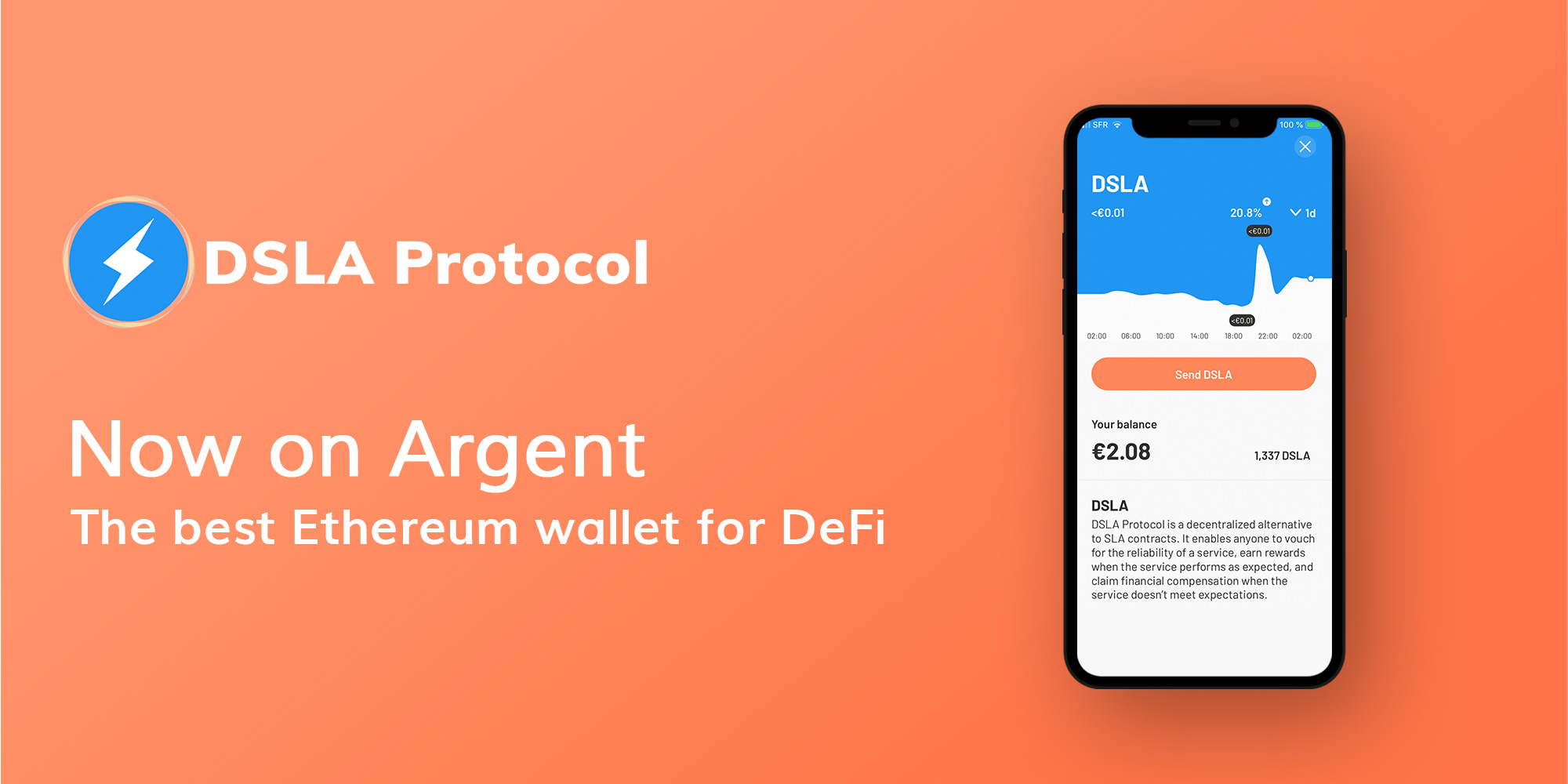 The DSLA Token has been added to Argent